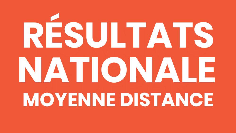 Résultats et analyses nationales CO Moyenne distance